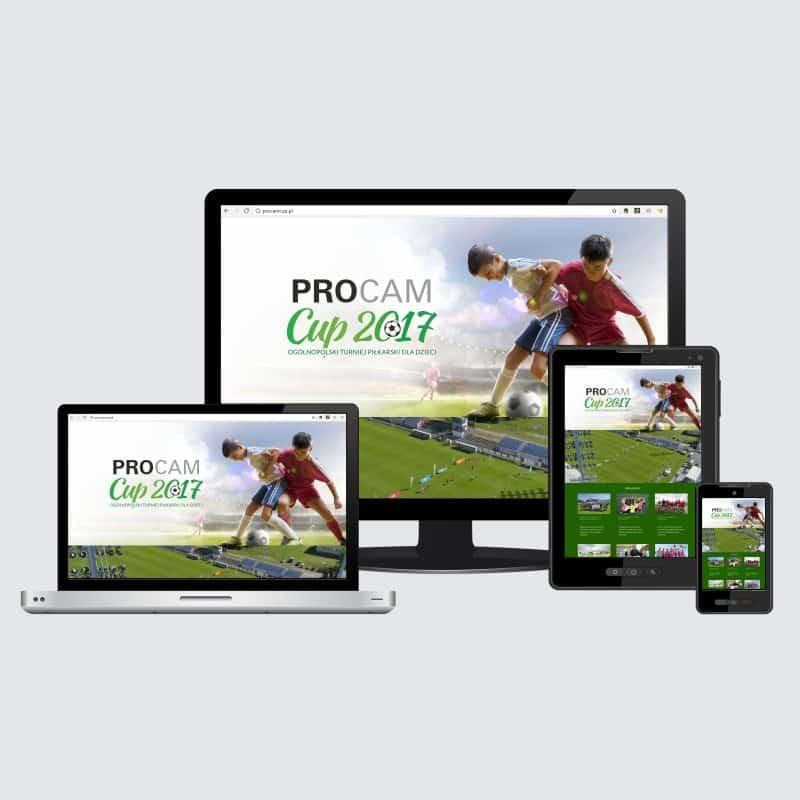 Realizacja strony internetowej -Projektowanie stron internetowych przykład realizacji strony procamcup.pl