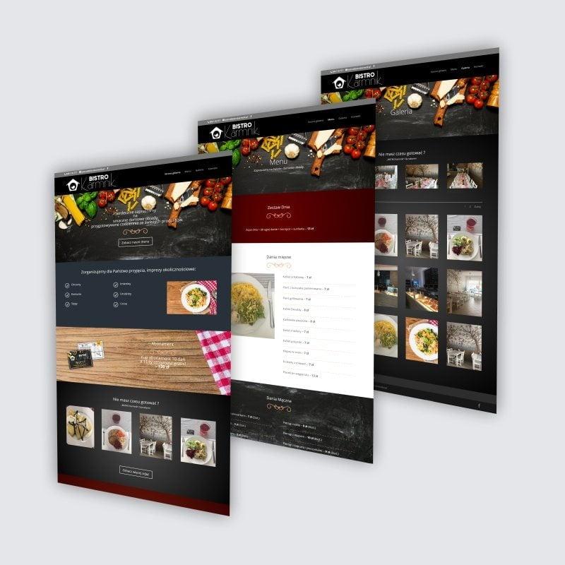 rdw projekt podstron www bistrokarmnik