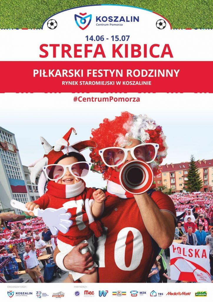 strefa kibica Koszalin telebim grafika realizacja druk plakatów