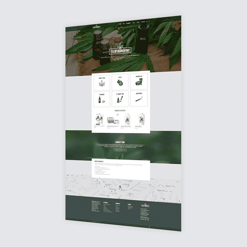Strona internetowa filipkonopny.pl – sklep z produktami z konopi siewnych