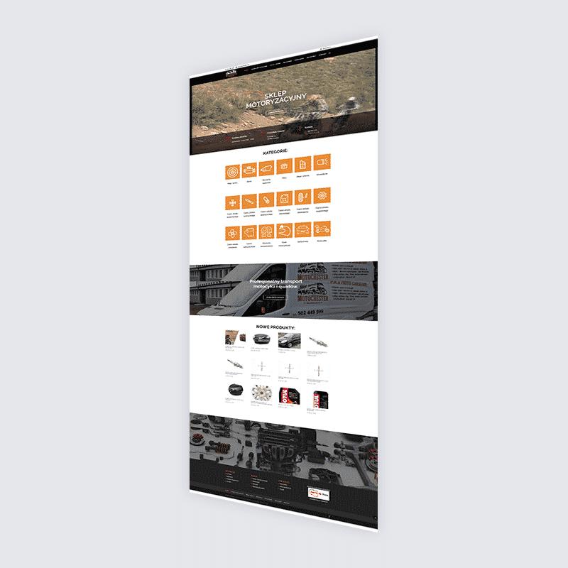 Strona internetowa Motochester – części zamienne i oryginalne do motocykli i samochodów